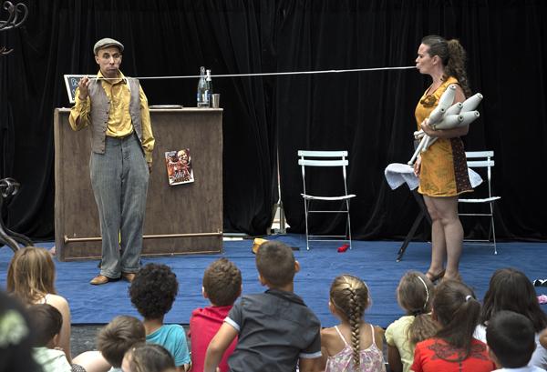 Cirque et magie - Farid Abed et Marion Achard, jeu et écriture