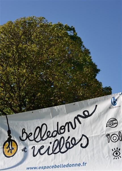 Un arbre le ciel et la bâche de Belledonne et veillées